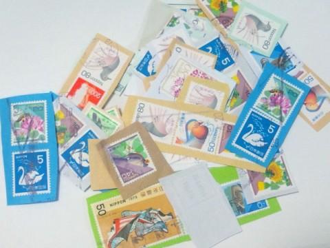 大掃除の話の続き~古切手と厚紙の再利用(recycle)
