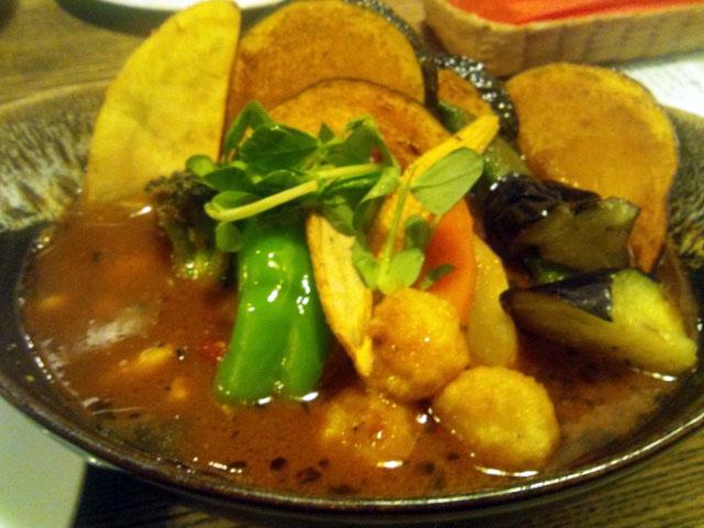 ポニピリカ@下北沢 オサレで野菜たっぷりスープカレー!