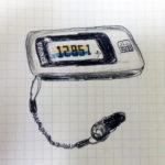 【絵日記】活動量計と毎日10000歩の確保