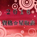 資格☆星取表2016