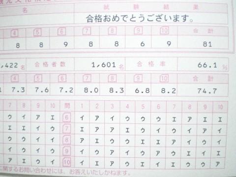 京都検定 3級試験結果