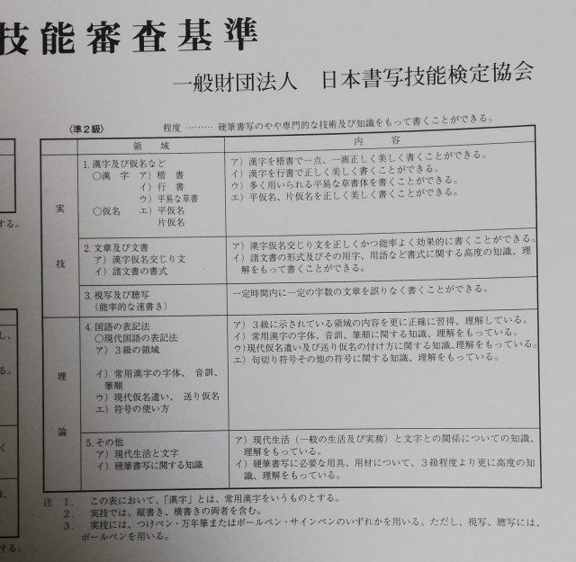 硬筆書写技能検定準2級 練習法 | 30's 資格論